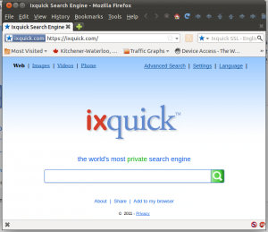 Screenshot of IxQuick in Mozilla Firefox