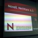 Photo of a Novell Netware screen