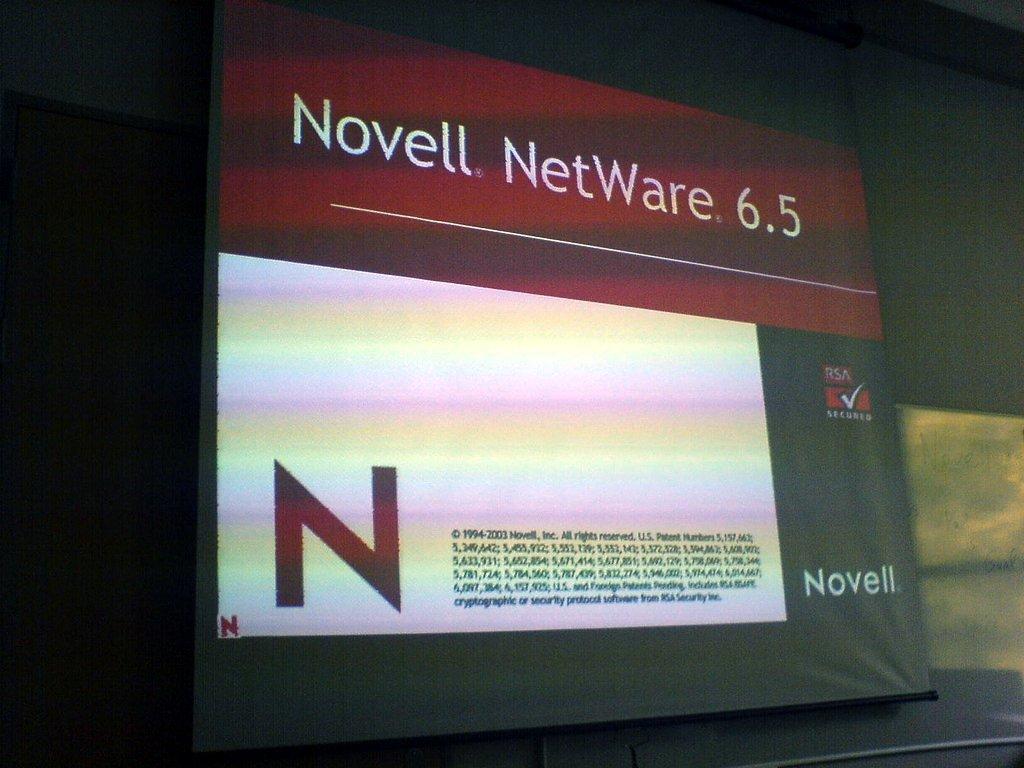 Novell screen