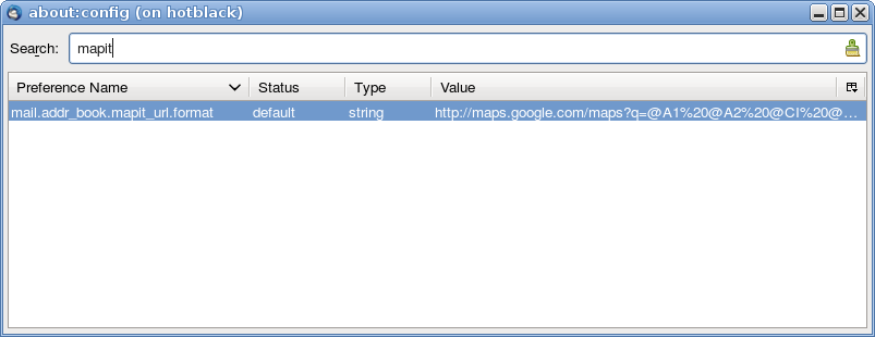 Screenshot showing the mail.addr_book.mapit_url.format setting