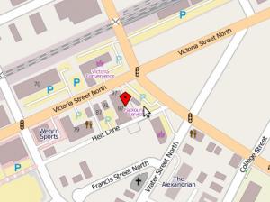 Map to St. John's Kitchen