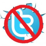 No Twitter logo
