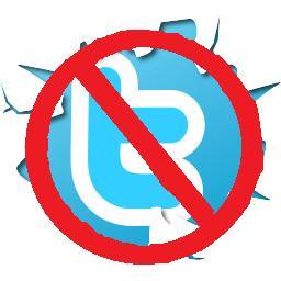 No Twitter logo